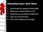 Red Leader Business PowerPoint Template 0910