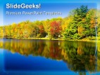 Reflection Of Fall Colors Nature PowerPoint Background And Template 1210