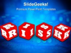 Risk Dices Business PowerPoint Template 0910