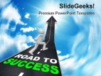 Road To Success Business PowerPoint Template 0910