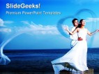 Romantic Couple Abstract PowerPoint Template 0610