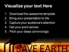 Save Earth Environment PowerPoint Backgrounds And Templates 1210
