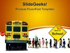 School Bus Travel PowerPoint Template 0810