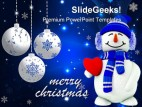 Snowman Christmas Holidays PowerPoint Template 1110