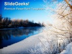 Snowy Winter Beauty PowerPoint Background And Template 1210
