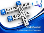 Social Media Network People PowerPoint Template 1110