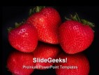 Strawberries Food PowerPoint Backgrounds And Templates 1210