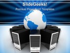 System Computer Network Global PowerPoint Backgrounds And Templates 1210