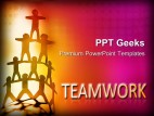 Team Balanced Teamwork PowerPoint Templates And PowerPoint Backgrounds 0411