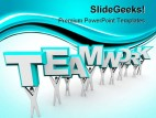 Teamwork Business PowerPoint Background And Template 1210