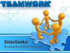 Teamwork Puzzle Business PowerPoint Template 0610