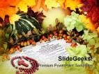 Thanks Giving Bible Holidays PowerPoint Template 1010