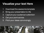 Tough Road Transportation PowerPoint Template 0610