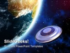 Ufo Invasion Earth PowerPoint Template 0610