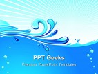 Wave Beach Abstract PowerPoint Templates And PowerPoint Backgrounds 0411
