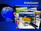 Web Site Search Internet PowerPoint Template 1110