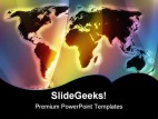 World Map Globe PowerPoint Template 1110