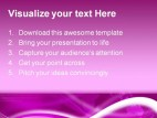 World Map Magenta Background PowerPoint Template 0910