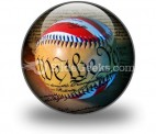 America Baseball PowerPoint Icon C