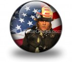 American Firefighter PowerPoint Icon C