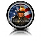 American Firefighter PowerPoint Icon Cc