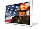 American Firefighter PowerPoint Icon F