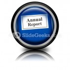 Annual Report PowerPoint Icon Cc