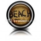 Beach PowerPoint Icon Cc