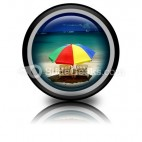 Beach Relax PowerPoint Icon Cc