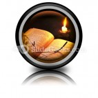 Book Candle PowerPoint Icon Cc