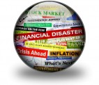 Business Financial Disaster PowerPoint Icon C