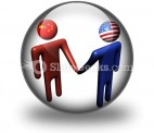 Chinese American Meeting PowerPoint Icon C