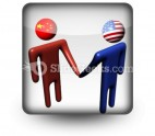 Chinese American Meeting PowerPoint Icon S