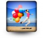 Colorful Balloons Jump PowerPoint Icon S