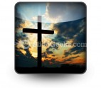 Cross At Sunset PowerPoint Icon S