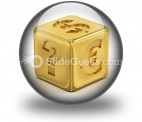 Cube With Currency Signs PowerPoint Icon C