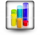 Cylindrical Bar Graph PowerPoint Icon S