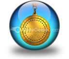 Gold Medal PowerPoint Icon C