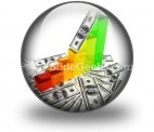 Graph With Money PowerPoint Icon C
