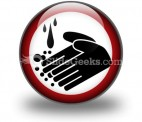 Hand Washing Circle PowerPoint Icon C