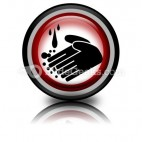 Hand Washing Circle PowerPoint Icon Cc