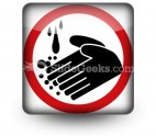 Hand Washing Circle PowerPoint Icon S