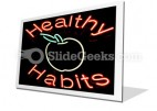 Healthy Habits PowerPoint Icon F