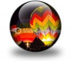 Hot Air Baloons People PowerPoint Icon C