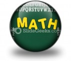 Mathematics PowerPoint Icon C