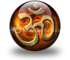 Om Religion PowerPoint Icon C