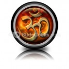 Om Religion PowerPoint Icon Cc