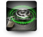 Secure Digital Mail PowerPoint Icon S