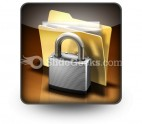 Secure Files PowerPoint Icon S