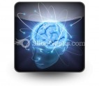 Vivid Brain PowerPoint Icon S